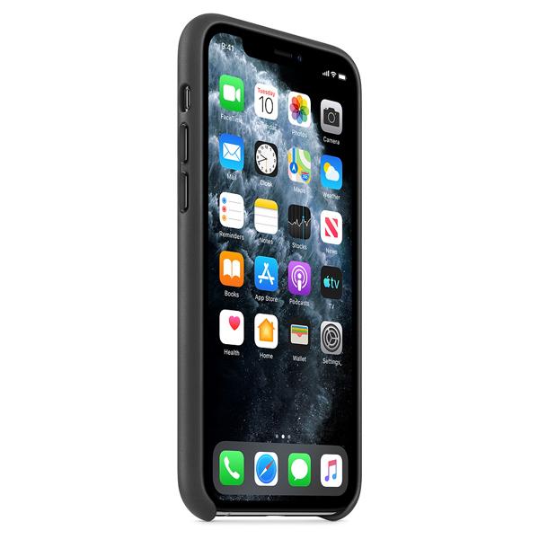 Чехол Apple iPhone 11 Pro Leather Case Black