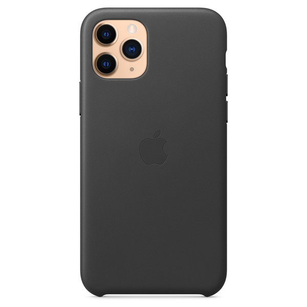 Чехол Apple iPhone 11 Pro Leather Case Black