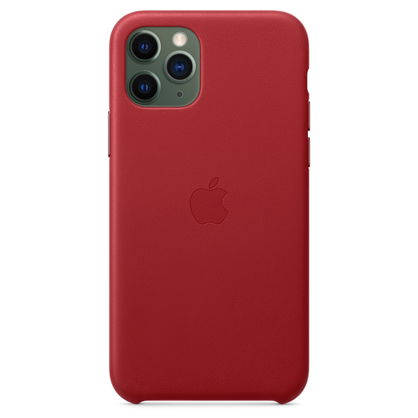 Чехол Apple iPhone 11 Pro Leather Case Red