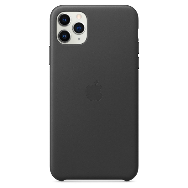 Чехол Apple iPhone 11 Pro Max Leather Case Black