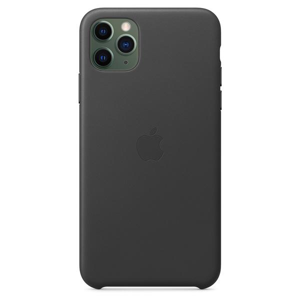 Чехол Apple iPhone 11 Pro Max Leather Case Black