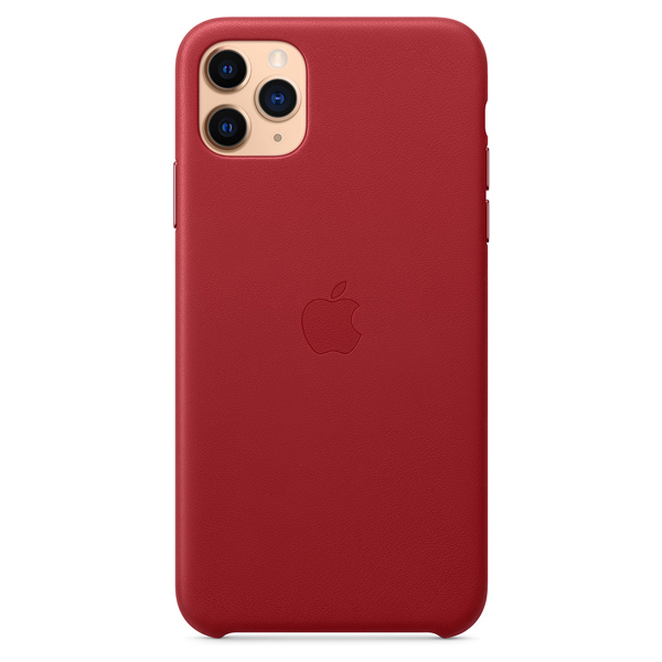 Чехол Apple iPhone 11 Pro Max Leather Case Red