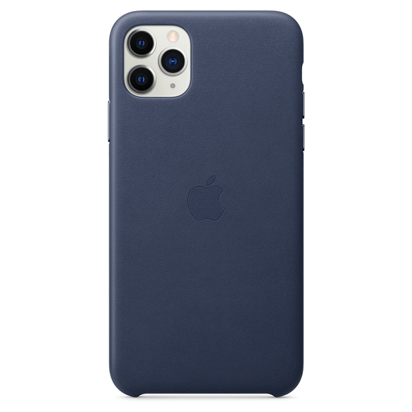 Чехол Apple iPhone 11 Pro Max Leather Case Blue