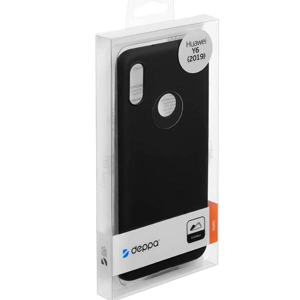Чехол Deppa Gel Color Case для Huawei Y6 2019 Black PET White