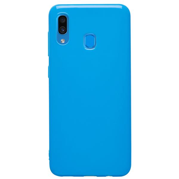 Чехол Deppa Gel Color Case для Samsung Galaxy A30 2019 Blue PET White