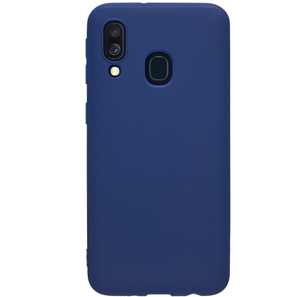 Чехол Deppa Gel Color для Samsung Galaxy A40 Blue PET White