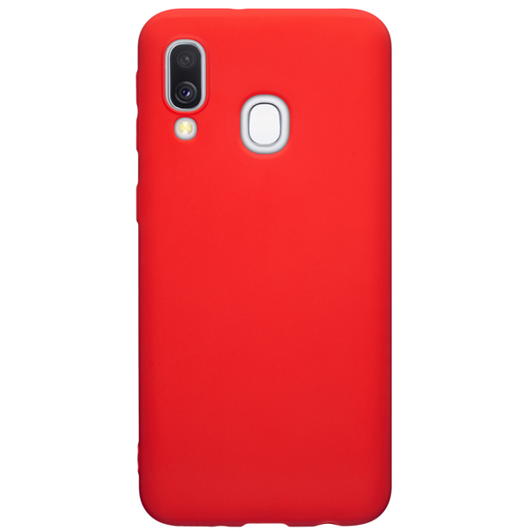 Чехол Deppa Gel Color для Samsung Galaxy A40 Red PET White