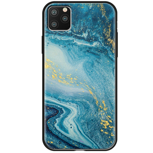 Чехол Deppa Glass Case для Apple iPhone 11 Pro Max Синий агат