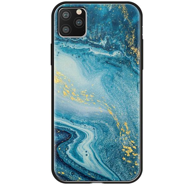 Чехол Deppa Glass Case для Apple iPhone 11 Pro Синий агат