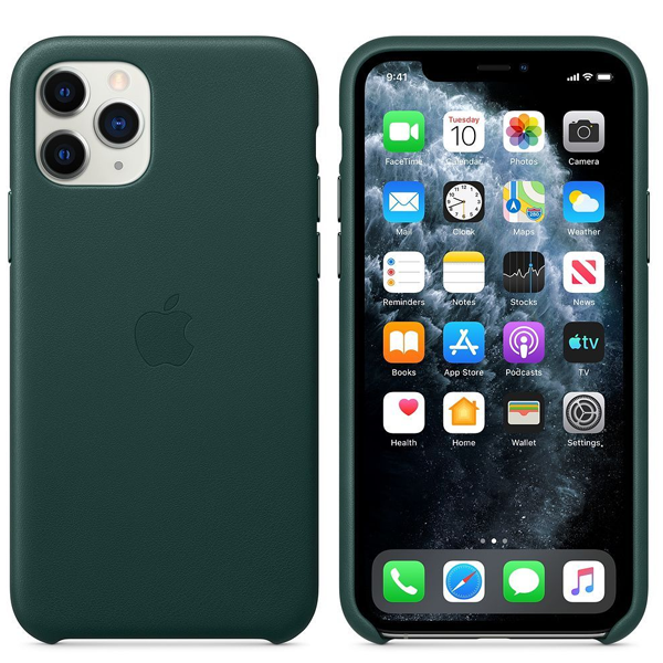 Чехол для смартфона Apple iPhone 11 Pro Leather Case Forest Green (MWYC2)