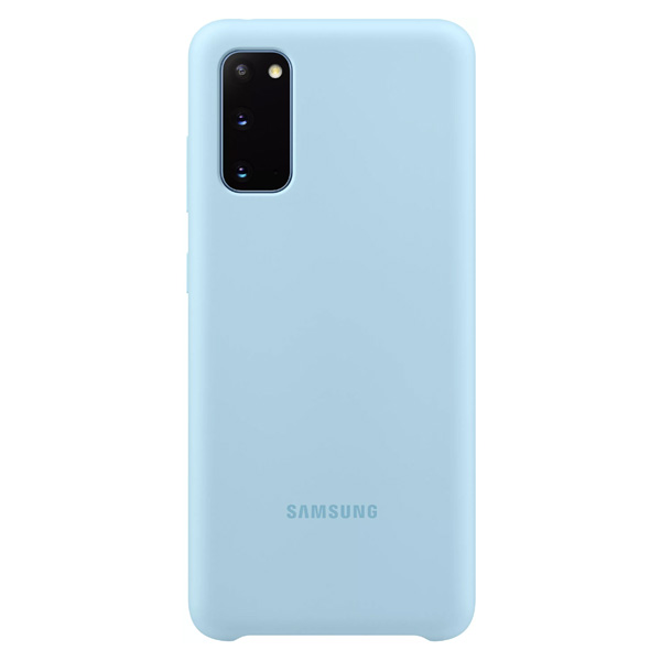 Чехол для смартфона Samsung EF-PG980TLEGRU (S20) Silicone Cover (голубой)