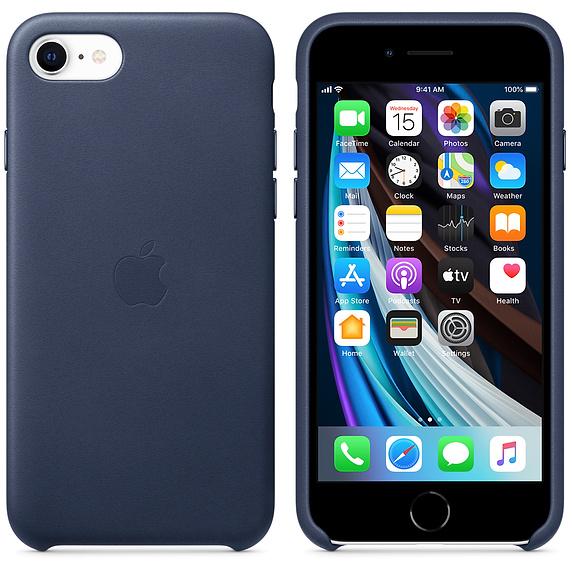 Чехол Apple iPhone SE Leather Case Midnight Blue