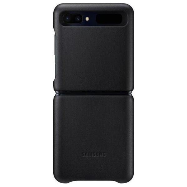 Чехол для смартфона Samsung Z Flip  Leather Cover (черный)