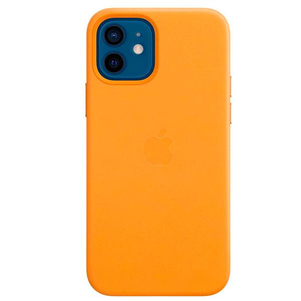 Чехол Apple iPhone 12/12 Pro Leather Case with MagSafe California Poppy (MHKC3)