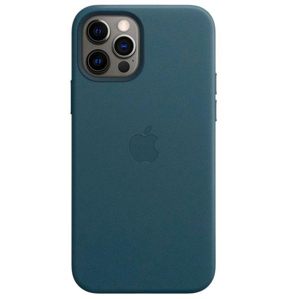 Чехол Apple для iPhone 12 / 12 Pro Leather Case with MagSafe Baltic Blue (MHKE3)