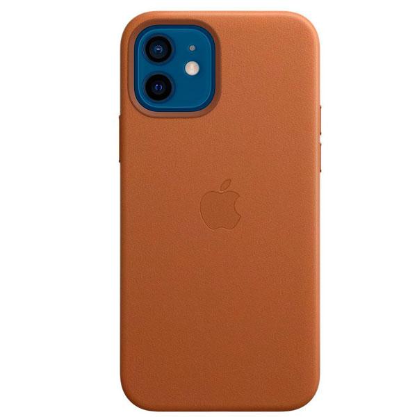 Чехол Apple для iPhone 12/12 Pro Leather Case with MagSafe Saddle Brown (MHKF3)