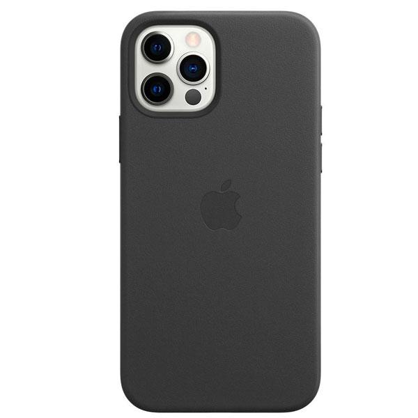 Чехол Apple для iPhone 12 / 12 Pro Leather Case with MagSafe Black (MHKG3)