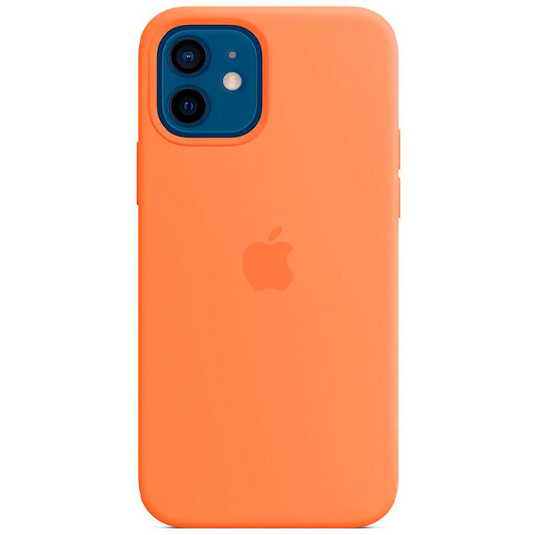 Чехол Apple iPhone 12/12 Pro Silicone Case with MagSafe MHKY3 Kumquat