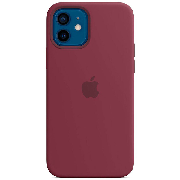 Чехол Apple iPhone 12/12 Pro Silicone Case with MagSafe MHL23 Plum