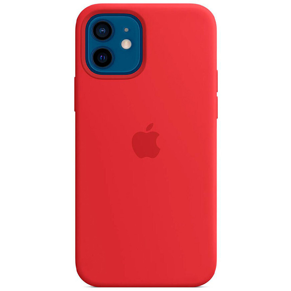 Чехол Apple iPhone 12/12 Pro Silicone Case with MagSafe MHL63 (Product)Red