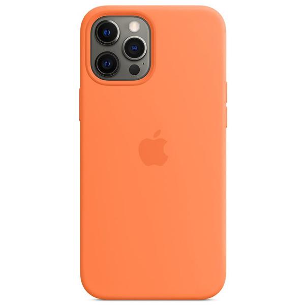 Чехол Apple iPhone 12 Pro Max Silicone Case with MagSafe MHL83 Kumquat