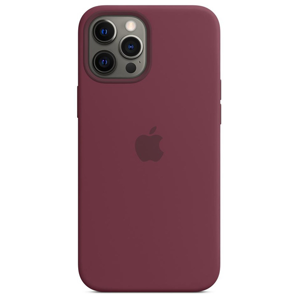 Чехол Apple iPhone 12 Pro Max Silicone Case with MagSafe MHLA3 Plum