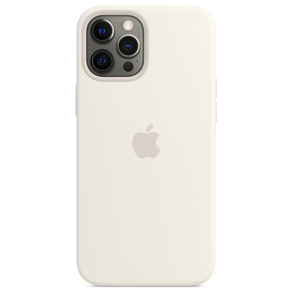 Чехол Apple iPhone 12 Pro Max Silicone Case with MagSafe MHLE3 White