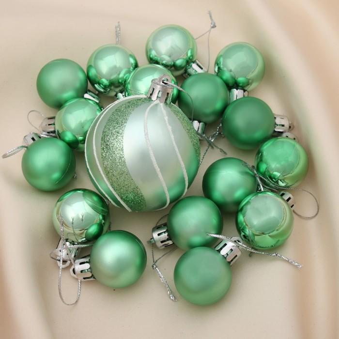 """Новогодние шары """"Лазурь"""" (набор 17 шт.)"""