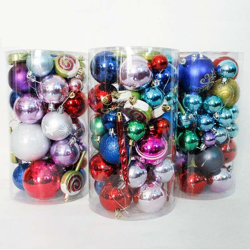 Украшение шары разноцветные SST-CTD011-50