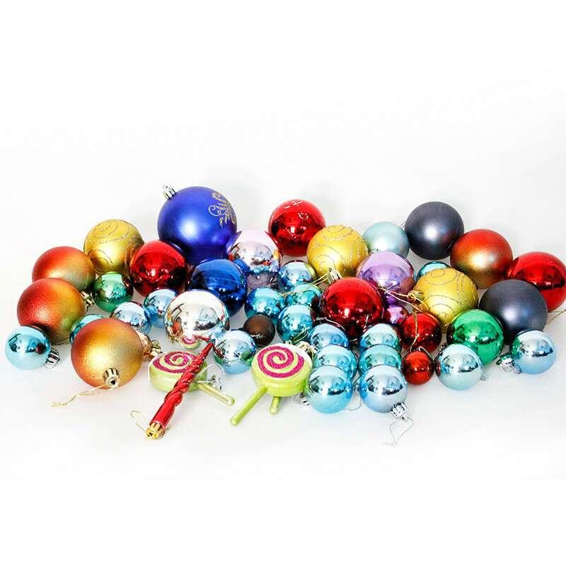 Украшение шары разноцветные SST-CTD011-13
