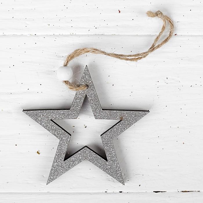 Новогодняя подвеска «Серебряная звезда»