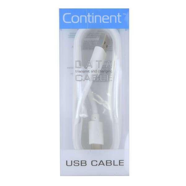 Кабель USB-C Continent USB Type-C -microUSB DCC-1000WT White