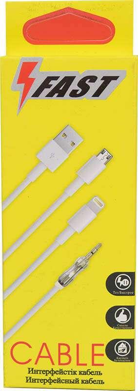 USB Кабель с разъёмом micro A-case  FAST