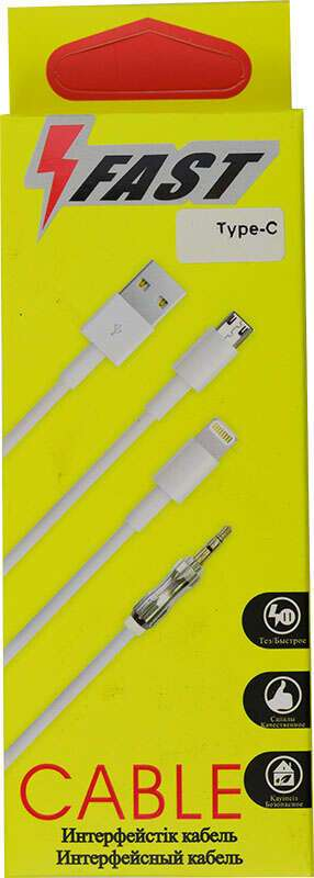 USB Кабель с разъёмом TYPE C A-case  FAST