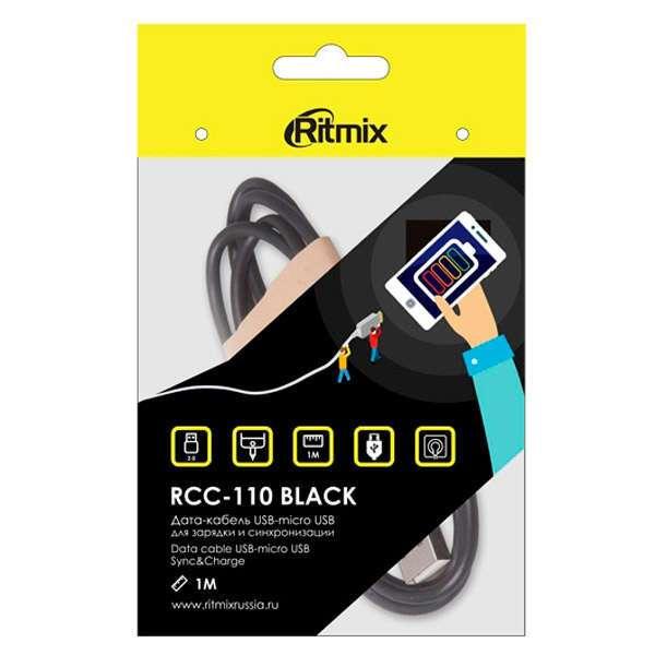 Кабель micro usb Ritmix RCC-110 Black