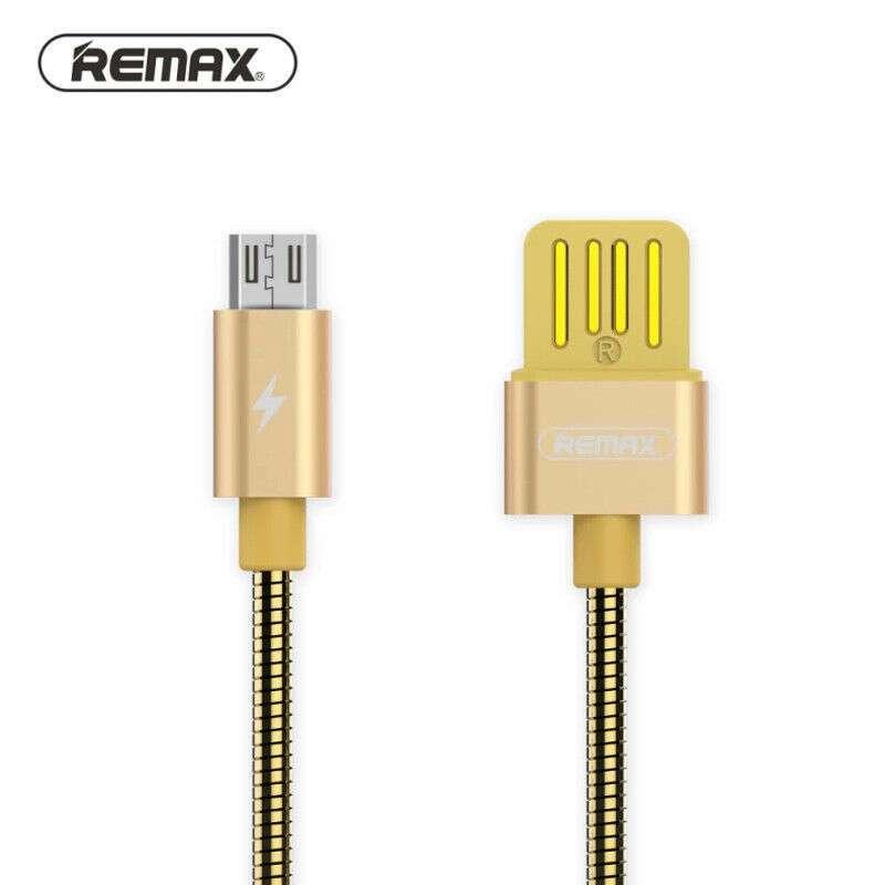 Кабель Remax Micro RC-080m Tinned copper, золотистый