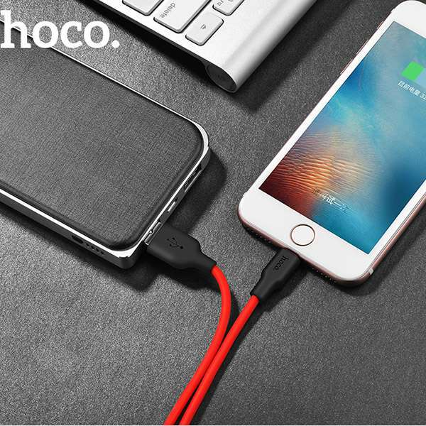 Кабель Hoco X21 Silicone lightning, Red