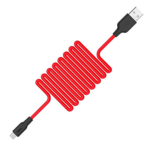 Кабель Hoco X21 Silicone micro, Red