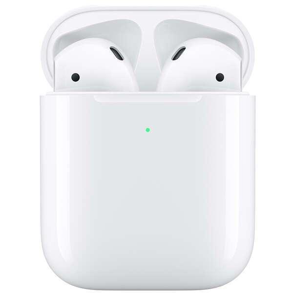 Наушники гарнитура Apple Airpods (MRXJ2RU) with wireless charging case