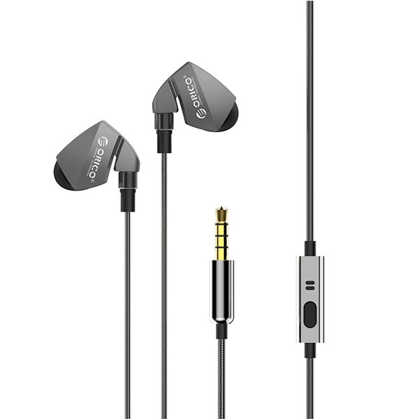 Наушники-вкладыши Orico Soundplus-P1-GY (Grey)