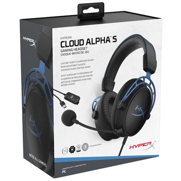 Гарнитура игровая HyperX Cloud Alpha S HX-HSCAS-BL/WW (Black)