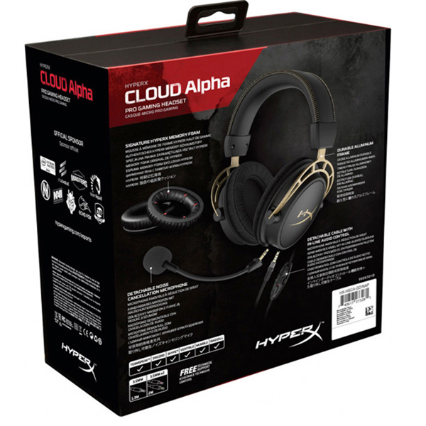 Гарнитура игровая HyperX Cloud Alpha Limited Edition (HX-HSCA-GD/NAP)