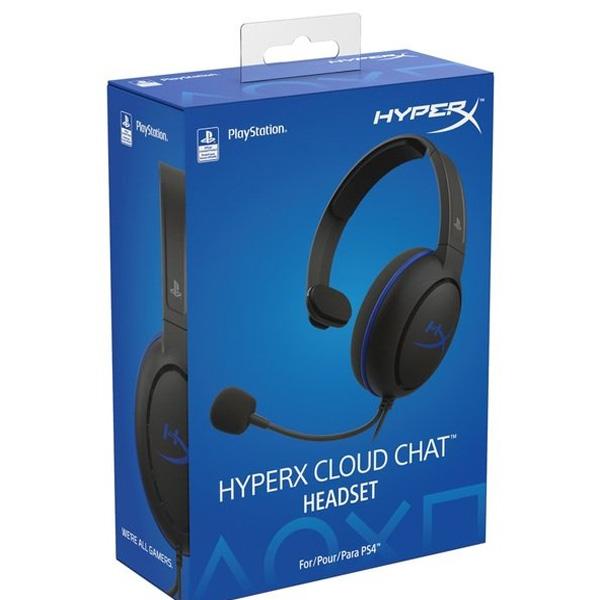 Гарнитура игровая HyperX Cloud Chat PS4 (HX-HSCCHS-BK/EM)