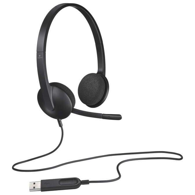 Наушники Logitech Headset H340 Black