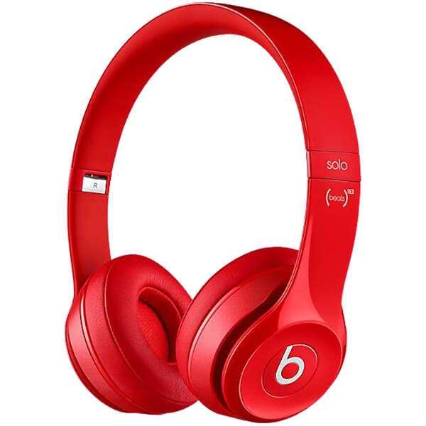 Беспроводные накладные наушники Beats Solo 2 Wireless (Red)