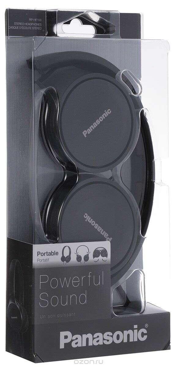 Наушники Panasonic RP-HF100GC Black
