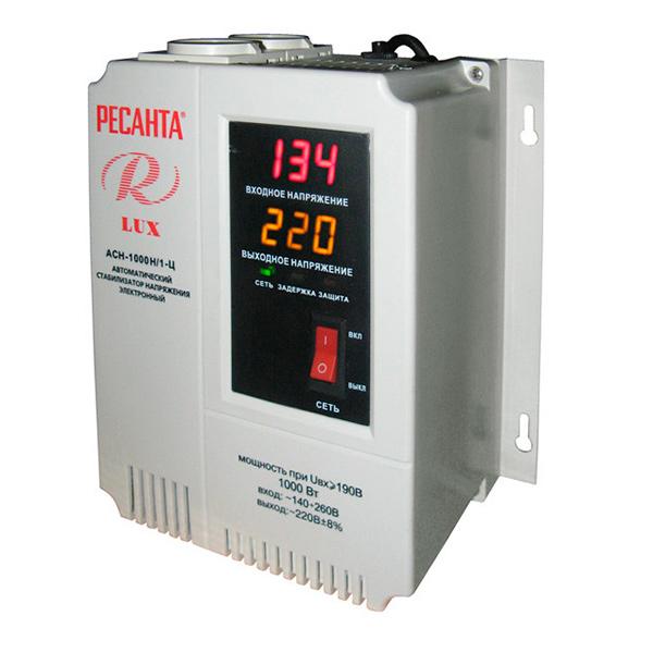 Стабилизатор цифровой Ресанта 1000/1 АСН Ц LUX