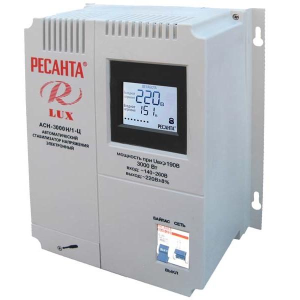 Стабилизатор цифровой Ресанта LUX АСН-3000Н/1-Ц