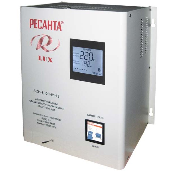 Стабилизатор цифровой Ресанта 8000/1 АСН Ц LUX
