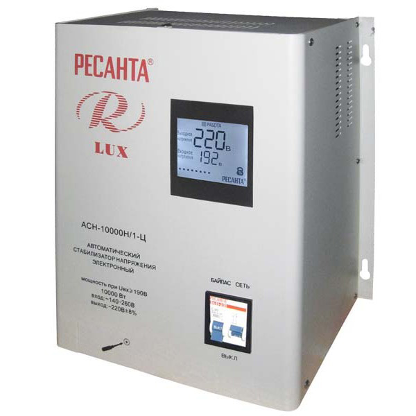 Стабилизатор цифровой Ресанта 10000/1 АСН Ц LUX